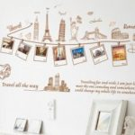 Modern Style Travel Photos Wall Sticker