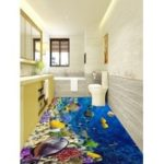 3D Undersea Scenery Printed Floor Sticker