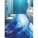 Sea Wave Printed Decorative Floor Stickers