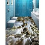 Creek Printed Decorative Floor Stickers