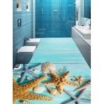 Starfish Printed Removable Floor Stickers