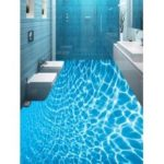 Crystal Clear Sea Water Print PVC Floor Stickers