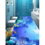 Fish and Coral Reef Print Floor Wall Stickers