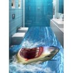 Sea Animal Shark Print Floor Stickers