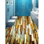 Stone Wall Printed Decorative Floor Stickers