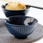 Japanese Style Vertical Stripes Porcelain Bowl