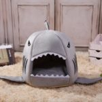 HESSION Washable Pet House Shark Shape Dog Bed