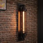 American Style Iron Retro Wall Light for Balcony Aisle