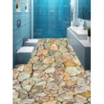 Gravel Stones Print PVC Removable Floor Wall Stickers