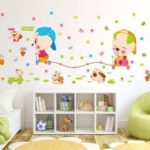 Cartoon Cute Animal Kids Room Wall Sticker