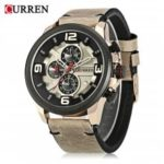 Curren 8288 Male Quartz Watch  			 			Calendar Chronograph Wristwatch for Men