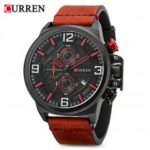Curren 8278 Male Quartz Watch  			 			Calendar Chronograph Men Wristwatch