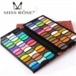 New MISS ROSE Natural Mineral Cosmetic Glitter professional Shimmer eye shadow Makeup set 82 Colors EyeShadow Palette