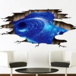 PVC Wall Sticker 3D Starry Sky Style Mural Decal  			 			for Home Hotel Decoration