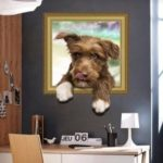 Cute Dog Pattern Wall Sticker  			 			Home Decoration
