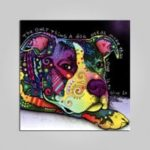 Unframed Cute Dog Pattern Print   Canvas Painting Artwork for Home Decor