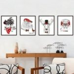 Creative Fun Cartoon Wall Sticker 4pcs
