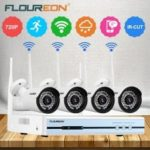 Floureon 4CH Wireless CCTV 1080P DVR Kit  Outdoor Wifi WLAN 720P IP Camera Security Video Recorder NVR System EU