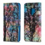 3D PU Leather Flip Wallet Stand Case for Samsung Galaxy S9 Forest Pattern