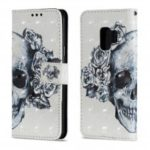 3D PU Leather Flip Wallet Stand Case for Samsung Galaxy S9 Skeleton Pattern