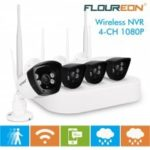 Floureon 4CH Wireless CCTV 1080P DVR Kit Outdoor Wifi WLAN 720P 1.0MP IP Camera Security Video Recorder NVR System EU