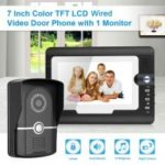 "Wired 7\"" Color  LCD Video Door Phone Security Intercom Doorbell System With IR Waterproof Outdoor Camera Monitor EU"