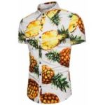 Turndown Collar Fruits Print Shirt