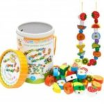 Beaded Game 100 Animals Through the Rope Children Puzzle Toy