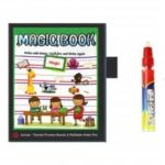 Children Early Education Puzzle Water Magic Graffiti Cloth Book Page 4PCS