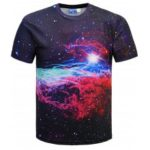 Colorful Galaxy Printed Short Sleeve T-shirt