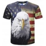 Eagle Stars Print Short Sleeve T-shirt