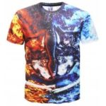 Flame Print Short Sleeve T-shirt