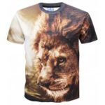 Lion Printed Short Sleeve T-shirt