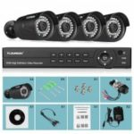 FLOUREON 1 X 8CH 1080P 1080N ONVIF AHD DVR + 4 X Outdoor 3000TVL 1080P 2.0MP Camera Security Kit AU