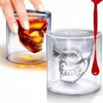 Magic Transparent Glass Skull Mugs Coffee Cups