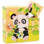 3D Cartoon Six Sides Wooden Puzzle Education Learning Tools Toy for Kids
