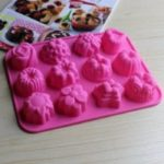 Silicone Mold 12 Holes Jelly Soap Mold Baking Cake Decorating Tools