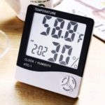 MCYH yh02 Multipurpose 2-in-1 Thermometer Hygrometer   Electric Clock