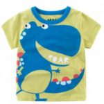 New Boy Cute Cartoon Dinosaur Print Short Sleeve T-shirt