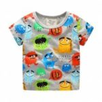 New Boy Cartoon Creative Graffiti Printing Short Sleeve T-shirt