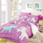 3D Series Cartoon Animation Unicorn Rainbow Series Bedding set