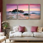 Special Design Frameless Paintings Waves of The Sea Print 3PCS