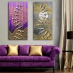 Special Design Frameless Paintings Peace Print 2PCS