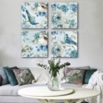 Special Design Frameless Paintings Magpie Print 4PCS