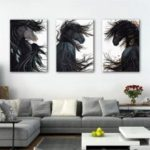 Special Design Frameless Paintings Chic Print 3PCS
