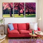Special Design Frameless Paintings Meadow Mangrove Print 3PCS
