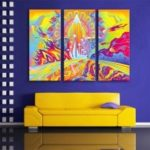 Special Design Frameless Paintings Meteorite Fall Print 3PCS