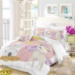 3D Series Cartoon Animation Unicorn Rainbow Bedding Set AS49