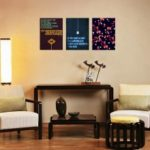 W115 Letters Unframed Wall Art Canvas Prints for Home Decoration 3PC