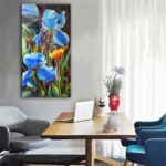 Special Design Frameless Paintings Big Flower Print